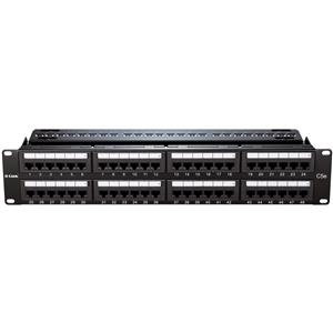 D-Link NPP-C61BLK481 Cat6 UTP Keystone 48 Port Patch Panel